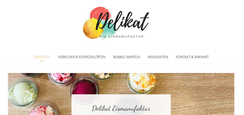 Delikat Eismanufaktur (Webseite)
